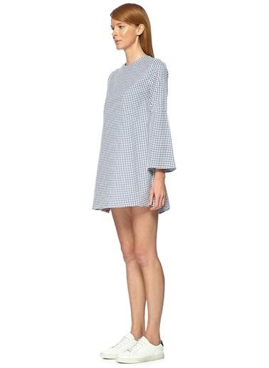 Kare Desenli Mini Elbise-Compania Fantastica